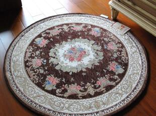 高档双线棉加丝 水洗地毯/防滑地垫/进户毯 1059咖啡 90CM直径圆,地毯,