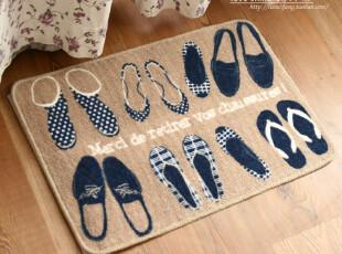 创意鞋印 简约北欧 日式印花 怀旧复古 门垫 地垫 脚垫,地毯,
