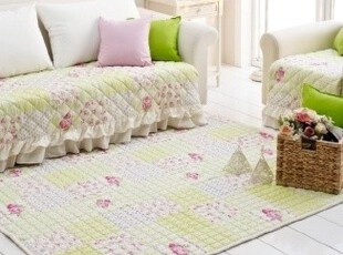 ★公主梦想★韩国家居*田园格子*玫瑰碎花舒适装饰大地垫W2370,地毯,