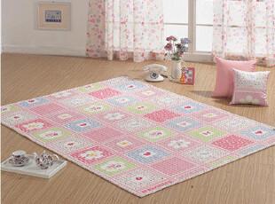 『韩国网站代购』田园花朵布艺地垫,地毯,
