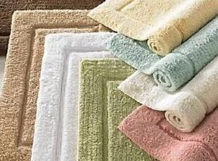简单的奢华 典雅边框设计纯棉绒毛素色系列浴垫地垫 限时9折,地毯,