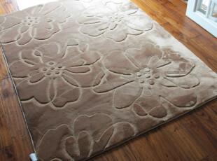 可水洗不掉色超柔拉舍尔剪花客厅/卧室/家居防滑地毯/地垫,地毯,