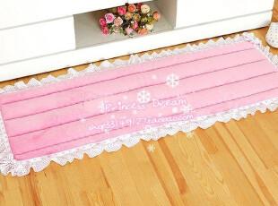 ★公主梦想★韩国家居*粉色情结*木耳边可爱装饰加长地垫* W136,地毯,