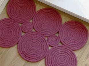 韩国正品 个性圆形厨房防滑地垫/门垫 地毯 脚垫,地毯,