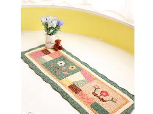 外贸可爱田园绗缝卧室防滑垫地毯地垫床前垫飘窗垫汽车坐垫拼绿,地毯,