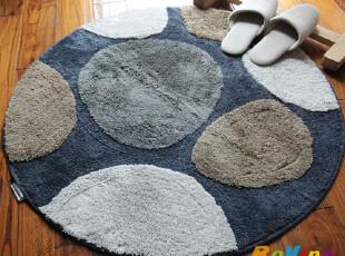 新款 大达DADA柔软吸水地垫/门垫/防滑垫/地毯90圆 DA5384-1(灰),地毯,