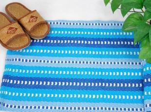花样时光 外贸出口七片蓝纯棉地毯地垫门厅地垫换鞋垫,地毯,