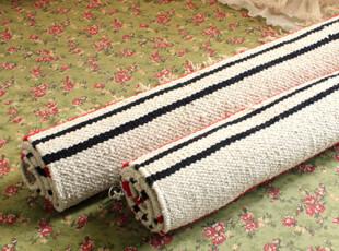 宜家正品 门垫/地毯 欧式纯棉彩色条纹门垫,地毯,
