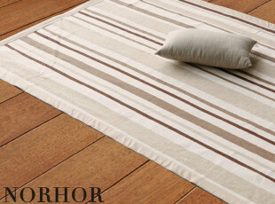 北欧表情/日本原单/客厅茶几卧室线毯/沁原彩条纯棉包边地毯,地毯,