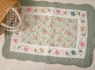 特 原单●欧式田园 精致刺绣 花形防滑垫/飘窗垫/地垫/床前垫●绿,地毯,