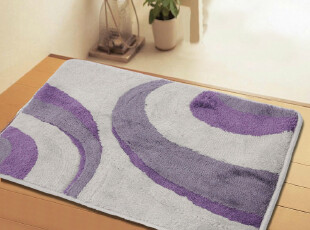 新品 超柔软吸水防滑腈纶地毯/门垫/吸水毯6854紫 60*90CM,地毯,