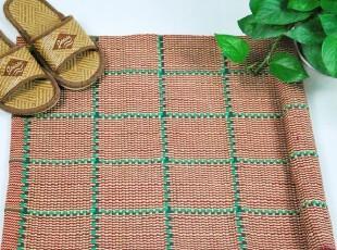 花样时光 红线格纯棉地垫浴室垫,地毯,