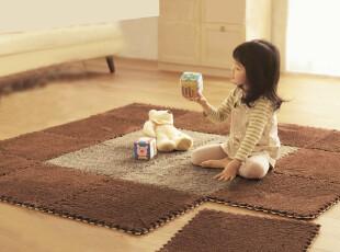 RoVing 日式柔软细毛魔方客厅卧室防滑地毯地垫 泡沫爬行垫 多色,地毯,
