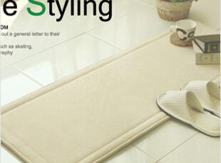 2012韩国代购绒面超细纤维/长条方形厨房防滑地垫/脚垫/拖鞋垫7色,地毯,