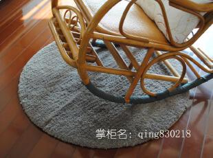 高档品 大达超细纤维超吸水地毯/客厅地垫 C8268灰色1M直径的圆,地毯,