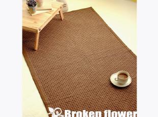 美丽说推荐田园地垫防滑垫门垫床前垫飘窗垫地毯茶几垫深华夫格,地毯,