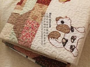 特 外贸 乡村风●zakka 纯手工棉制贴布绣 多功能防滑垫&空调被,地毯,