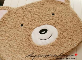 超大 日本定制地垫 软绵绵 熊猫 小熊 地垫 床边垫 75cm x 55cm,地毯,