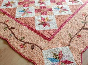 爬爬之家 古典蔓藤地垫 复古拼布飘窗垫 外贸绗缝布艺地毯游戏毯,地毯,