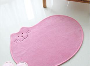 2012韩国代购绒面超细纤维可爱卡通猫咪头像茶几防滑地垫门厅脚垫,地毯,