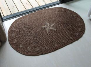 五角异域风情 孟加拉麻印花地垫/麻垫/门垫/编织垫/鞋垫 60*90,地毯,