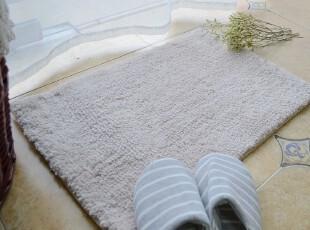 特 超好品质亚麻色超细纤维地垫 防滑垫 门垫 40*60,地毯,