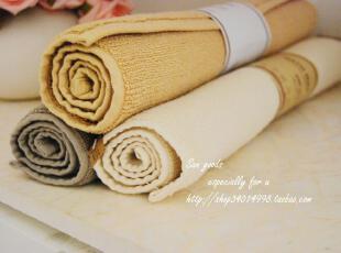 【山鱼良品】全棉加厚地垫/地巾 日单正品 zakka 3色,地毯,