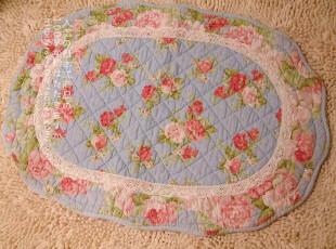 特 原单●家居用品 欧式田园 花形防滑垫/飘窗垫/地垫/床前垫●蓝,地毯,