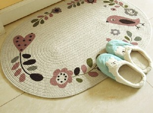 RoVing 花语手工环保棉吸水防滑地垫/床前垫/地毯 多尺寸,地毯,