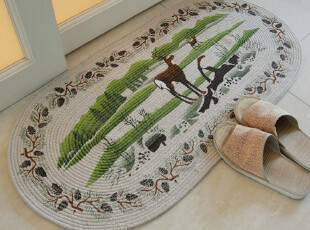 新款 RoVin藤鹿手工全棉吸水地垫/门垫/防滑垫/地毯 50*100米,地毯,