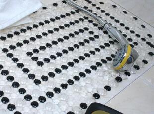【瑞士品牌丝普瑞】spirella简约圆头黑白圆珠PVC浴室防滑地垫,地毯,
