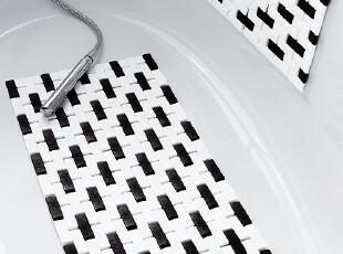欧洲品牌SPIRELLA Domino马赛克简约时尚抗菌PVC吸盘浴室防滑地垫,地毯,