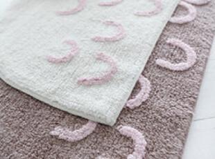 【韩国进口家居】微笑的嘴 柔软吸水半圆地垫 n1156,地毯,