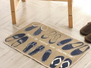 宜家风格 时尚地垫鞋子图案地毯 客厅卧室门垫脚垫 zakka日式杂货,地毯,
