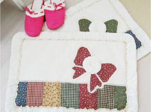 「韩居屋」田园小碎花 蝴蝶结地垫 韩国进口防滑厨房脚垫.沙发垫,地毯,