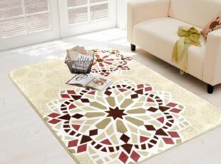 新品8折PT59包邮珊瑚绒 拼接花朵 图案 客厅卧室茶几地毯,地毯,