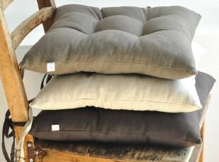 原创 亚麻  布艺坐垫 椅子垫 沙发垫 餐椅垫 加厚 冬季 田园,坐垫,
