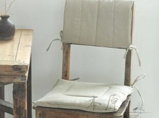本原 素色水洗亚麻 椅子垫 沙发垫 坐垫 餐椅子垫 夏季简约可定制,坐垫,