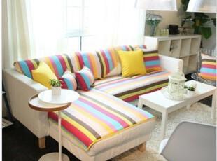 彩虹 沙发垫 纯棉沙发垫 布艺 沙发垫 坐垫,坐垫,