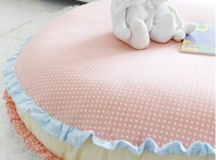 『韩国网站代购』与浪漫无关与可爱有关 圆圆点点木耳边地板坐垫,坐垫,