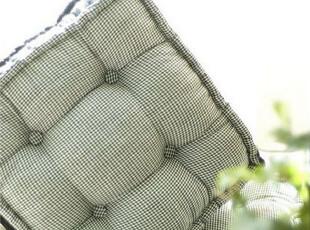【3米家】黑白格子坐垫  纯手工缝边  单面扣靠垫抱枕,坐垫,