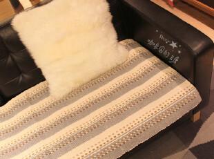 灰白纹纯棉*特价木沙发套皮沙发垫贵妃沙发巾防滑飘窗垫坐垫,坐垫,