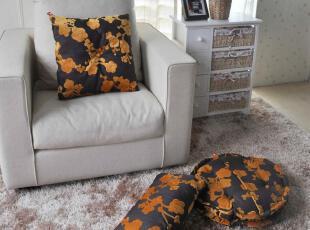 特价 韩式烂花绒金黄梅花榻榻米 坐垫 抱枕 三件套,坐垫,