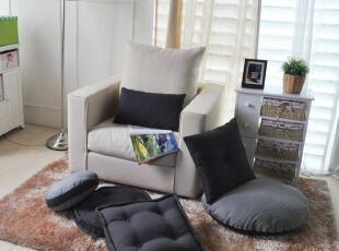 限量抢购  韩式糖果系深灰色榻榻米坐垫 饼干枕 腰枕 抱枕 四件套,坐垫,