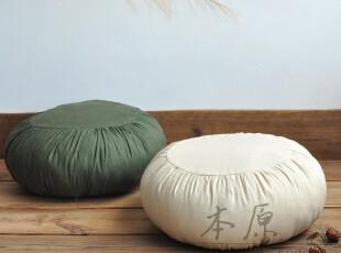 本原 亚麻坐垫/椅垫/沙发垫/飘窗垫台垫/塌塌米垫/简约加厚可拆洗,坐垫,