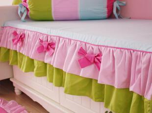 花开木木 公主风 4厘米厚海绵 飘窗垫 沙发垫 订做尺寸 糖果色彩,坐垫,