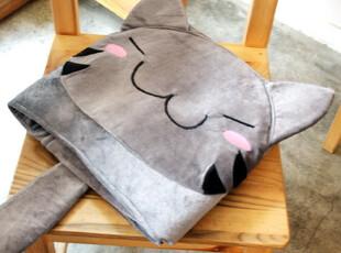 韩国进口正品2young可爱猫咪坐垫 披风 空调毯 多用毯 2款选,坐垫,