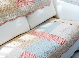 纳兰 韩式拼色蝴蝶结沙发垫 外贸纯棉刺绣布艺绗缝飘窗垫,坐垫,