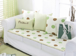 【Asa room】韩国进口代购 圆点纯棉沙发垫地毯爬行垫正品dc145-g,坐垫,