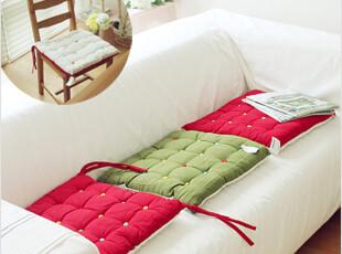 2012新款韩国代购衍缝格子方形双面帆布沙发垫系绳坐垫椅垫特价,坐垫,